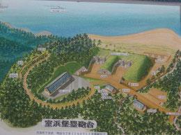 室浜砲台周辺の想像図