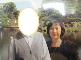 2009年5月末渉成園にて Kさんと。