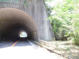 トンネルの右手にある道を分け入る