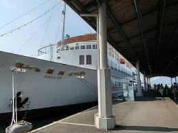 広島方面 通勤の行きは豪華客船銀河    帰りはバス、クレアラインは一部利用可