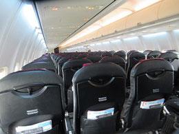 乗客は十数名の広島発札幌行きの飛行機。