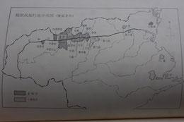 「稲田家知行地」に「井川」一族が暮らしていた美馬郡が含まれているのが確認できる。
