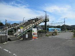 オレンジ鉄道「牛ノ浜」駅前