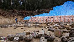 昨年、土砂災害に遭った小早川家墓所