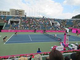 広島広域公園テニスコート        翌日には地元テレビ局で放映された。