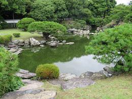 徳島城。庭園は残っている。