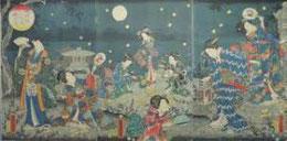 浮世絵に描かれた蛍狩り         写真はいずれもネットから