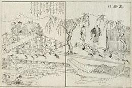 高瀨川(平安京都名所図会 日文研)