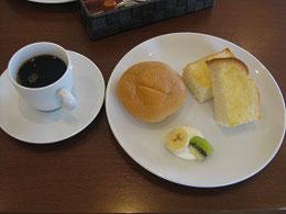 名古屋名物、モーニングコーヒー(350円)これは普通でさらに野菜サラダ付きもあり(お値打ち感の象徴)