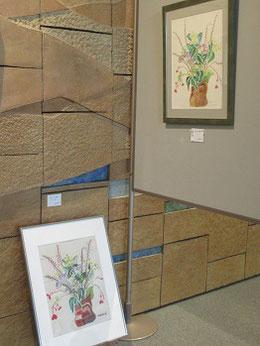 私の作品も展示されている。