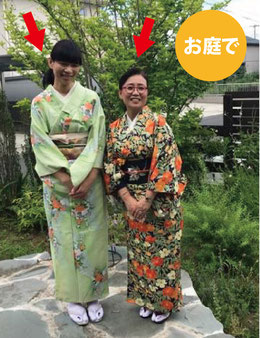 お二人は外国の方。カンタンに日本文化を楽しんでいらっしゃいます。