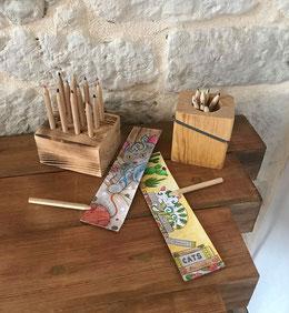 Pot à crayons en bois Hautes-Pyrénées