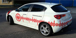 Alfa Romeo mit Eintracht Frankfurt Branding