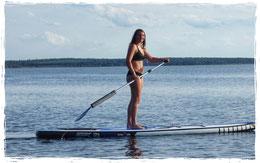 Stand Up Paddling Kids an der Surfschule Ostsee in Rerik- Stehbereich