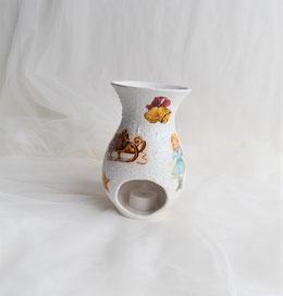 Keramikvase-Teelicht mit Weihnachtsmotiven