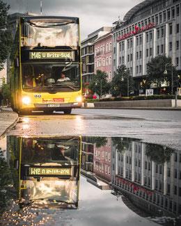 Autobús de dos pisos de BVG en Berlín.