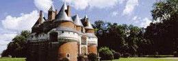 Château de Rambures au sud de la Bie de Somme