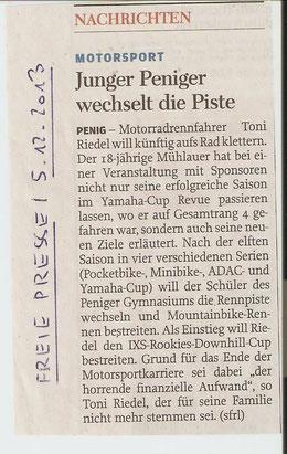 Freie Presse Penig/Rochlitz 05.12.2013