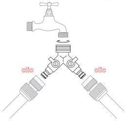 Boutté 2-Wege Wasserverteiler aus Messing