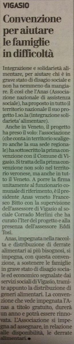 Tratto dal giornale L'Arena del 20/02/2014