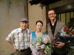 with Japanese famous actor Asahi Kurizuka 名俳優 栗塚旭さんと