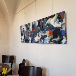 Liralu, Triptychon, Almoshof, Kunstverein Erlangen, Gruppe+, Acryl, abstrakt, Malerei, Art,