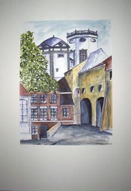 Wasserturm Augsburg              Aquarell