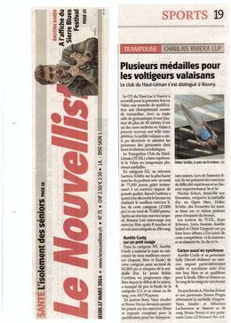 Le Nouvelliste, 27.03.14: Vouvry