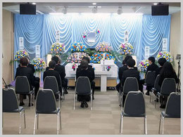松戸市斎場での無宗教の一日葬