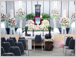 松戸市斎場での創価学会友人葬