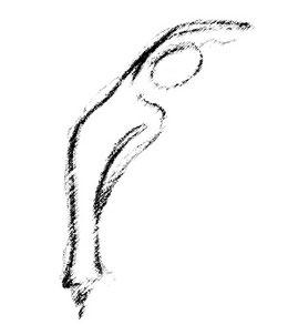 Ardhakati Chakrasana ou posture de la roue (debout et flexion latérale)