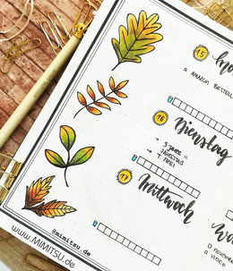 Bujo Doodle Fall Autumn Bullet Journal Weekly