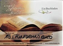 Die Gewinner/innen erhalten einen Büchergutschein für den Buchladen in Beelitz