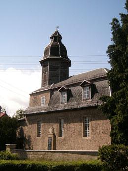 Kirche zwischen 1977und 2006 mit vereinfachter Turmspitze