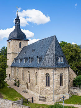 Ansicht der Magdalaer Kirche mit dominantem Chor