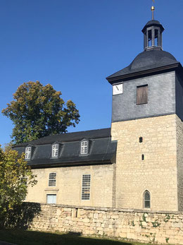 St. Jakob - eine der wenigen Wehrkirchen im mittleren Saaletal mit erhaltener Wehranlage