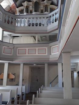 Blick zur Barock-Orgel