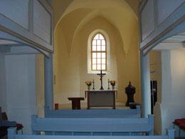 Blick in den Altarraum, 2019