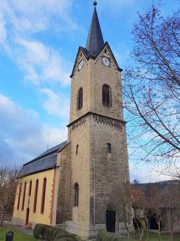 Blick auf die Kunitzer Kirche von Südosten