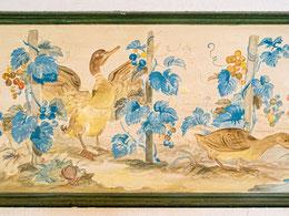 Ein Beispiel der zahlreichen Bilder heimatlicher Naturdarstellungen an den Emporenbrüstungen