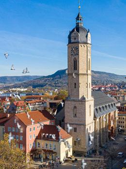 Turm der Stadtkirche von Westen mit neuer Renaissancehaube