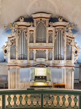 270 Jahre alte Scherff-Orgel mit Barockprospekt