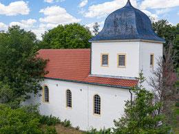 Außenansicht der Altengönnaer Kirche, 2020