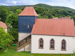 """Kirche mit """"Herrentreppe"""" zur Empore"""