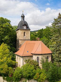Blick auf die Zwätzener Kirche