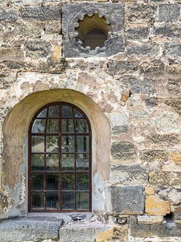 Rosette von Leutra - seltenes Elfpassfenster für österlichen Lichteinfall