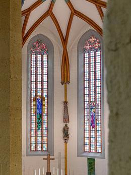 Körnerfenster, die Erzengel Michael und Gabriel