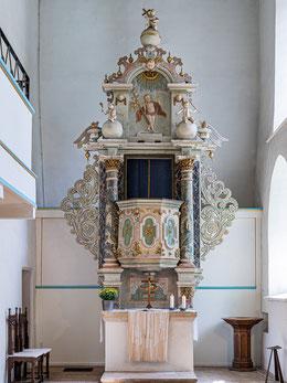 Barocker Kanzelaltar von 1723