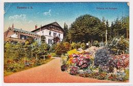 Kamenz - Hutberg mit Hotel um 1920, alte gelaufene Ansichtskarte