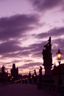 Golden Hour at Charles Bridge, Prague, Czech